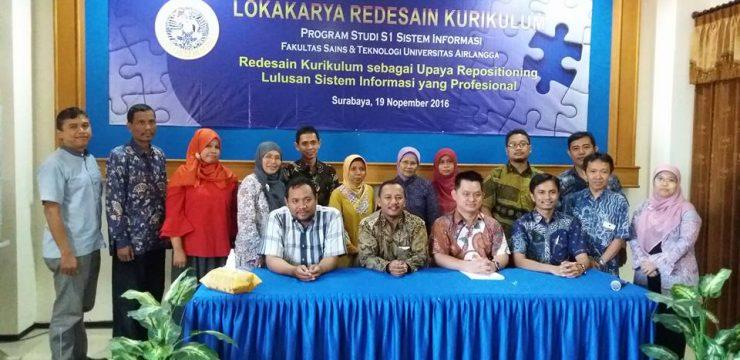 Lokakarya Redesain Kurikulum S1 Sistem Informasi 2016
