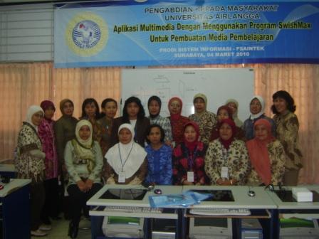 Pengabdian Masyarakat Aplikasi Multimedia Dengan Menggunakan Program Swishmax Untuk Pembuatan Media Pembelajaran 4 Maret 2010