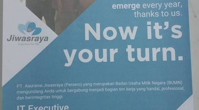 Lowongan IT Executive PT Asuransi Jiwasaraya (Persero)