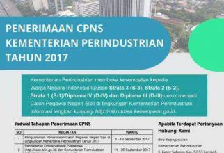 Lowongan CPNS Kementerian Perindustrian 2017