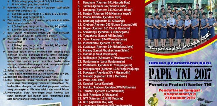 PAPK TNI 2017 (Perwira Prajurit Karier TNI)